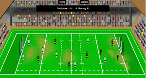 Top 14 France rugby game simulation